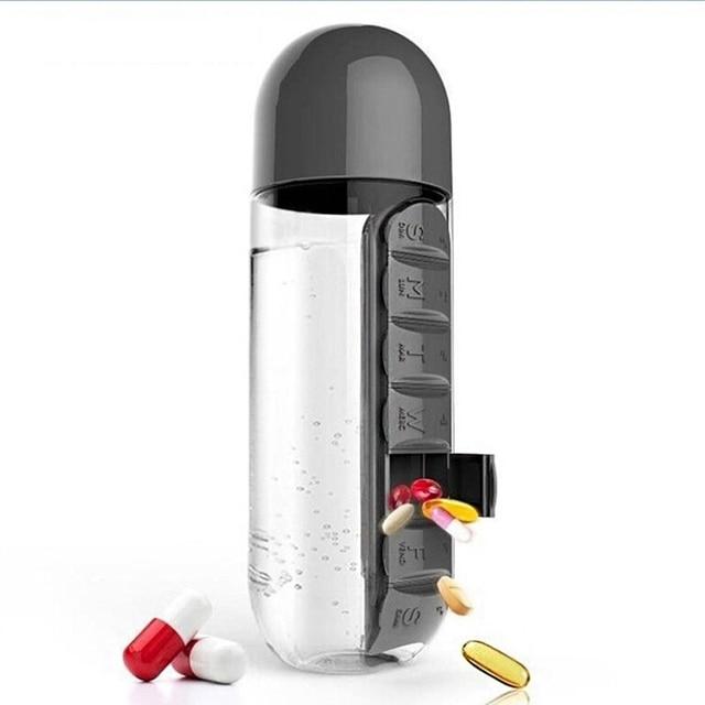 600 Ml Dagelijkse Capsule Jug Vitamine Organizer Portable Fles 2 In