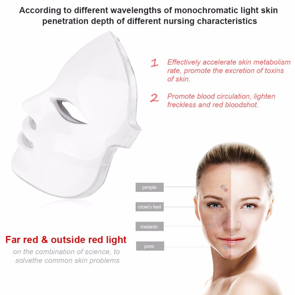 New Korean Photodynamic LED Facial Mask Home Use Beauty Instrument Anti acne Skin Rejuvenation LED Photodynamic Beauty Face MassNew Korean Photodynamic LED Facial Mask Home Use Beauty Instrument Anti acne Skin Rejuvenation LED Photodynamic Beauty Face Mass