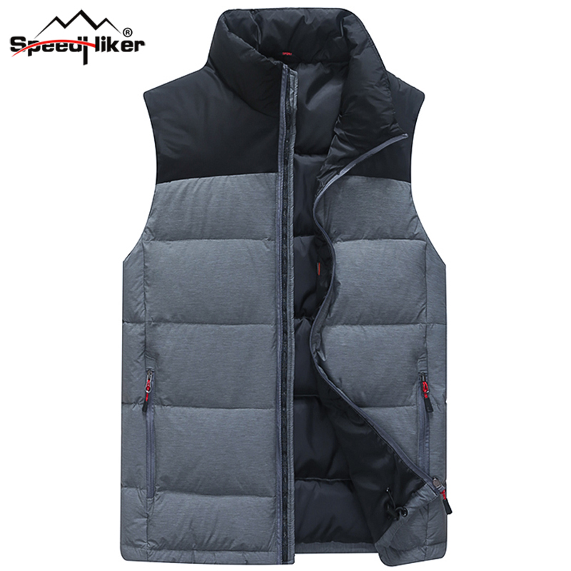 Speed Hiker Down Vest Men Winter 2016 New 90 White Duck Down Fashion Style Very Thick
