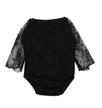 Baby Girl Long Sleeve Cute Lace Jumpsuit Sunsuit Outfits Set Clothing Infant Baby Girls Clothes Tops Floral Bodysuit