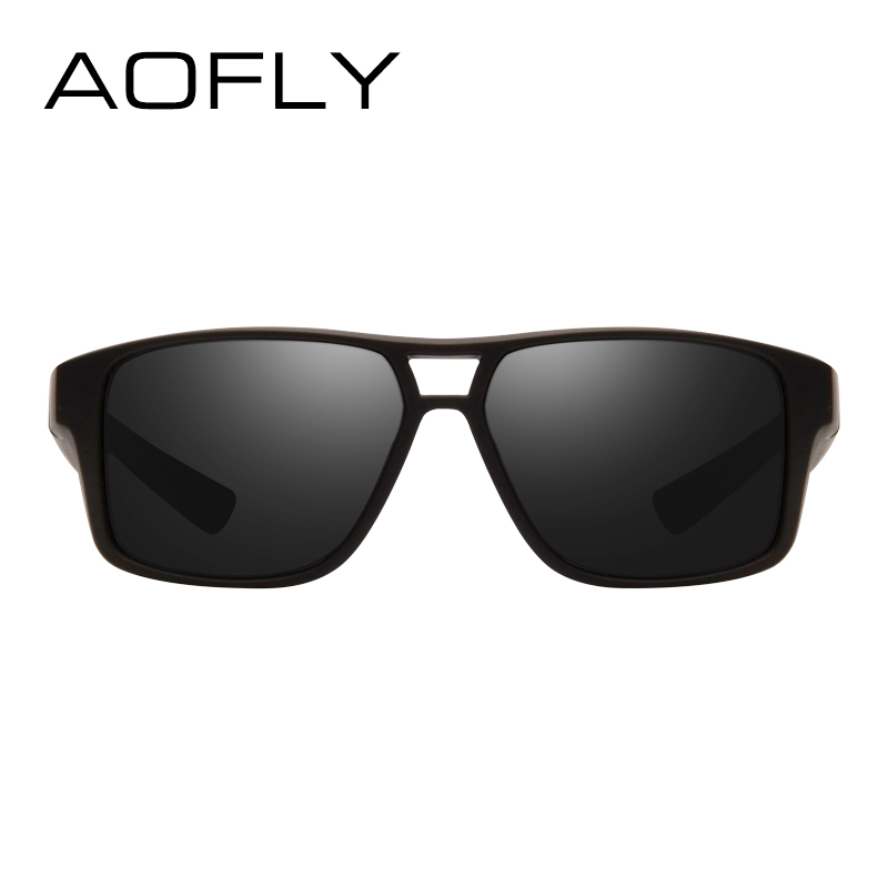 Aofly Polarized Sunglasses Mens Cool Vintage Brand Design