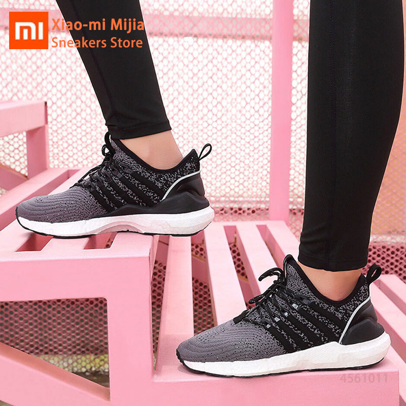 Xiaomi FREETIE sports shoes light elastic Knitting shoes breathable refreshing Mesh lace-up Running Sneaker for Women TrainerXiaomi FREETIE sports shoes light elastic Knitting shoes breathable refreshing Mesh lace-up Running Sneaker for Women Trainer