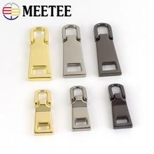 Meetee Fashion 3# 5# Metal Zipper Pullers Jacket Coat Zip Repair Kits Zippers Pull Tabs for Slider DIY Sewing Crafts