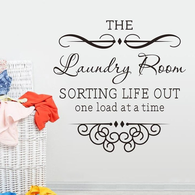Sorting Life Out One Load At A Time Laundry Room Wall Sticker Vinyl Removable Art Home Decor
