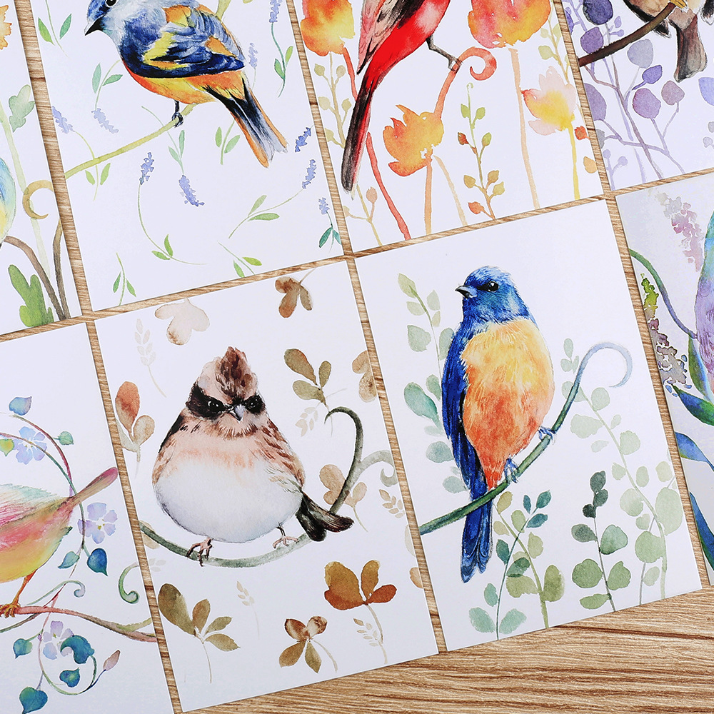 30pcs spring birds singing style postcard as invitation Greeting Cards gift cards Christmas postcard & invitation