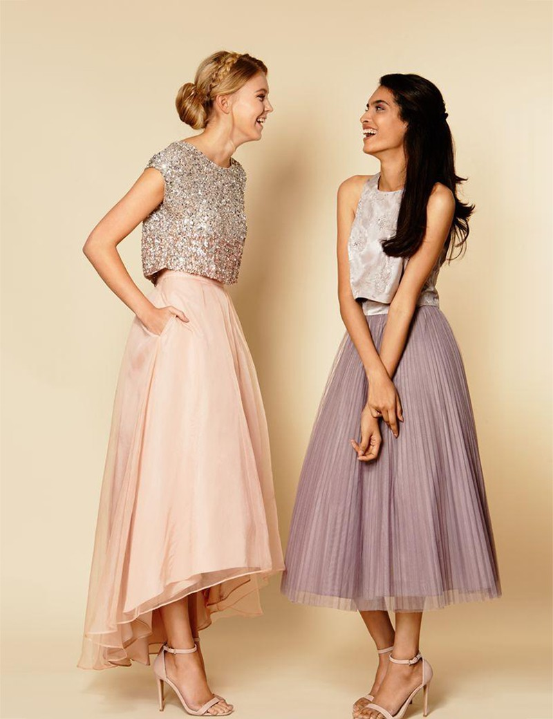 luxury sequin champagne long Bridesmaid Dresses 2016 o ...