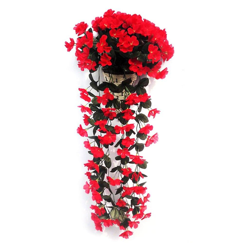 Шелковые ткани искусственные цветы цветок лоза вечерние украшения корзина для цветов Декор Европейский Свадебный декор домашний декор балкон - Цвет: red