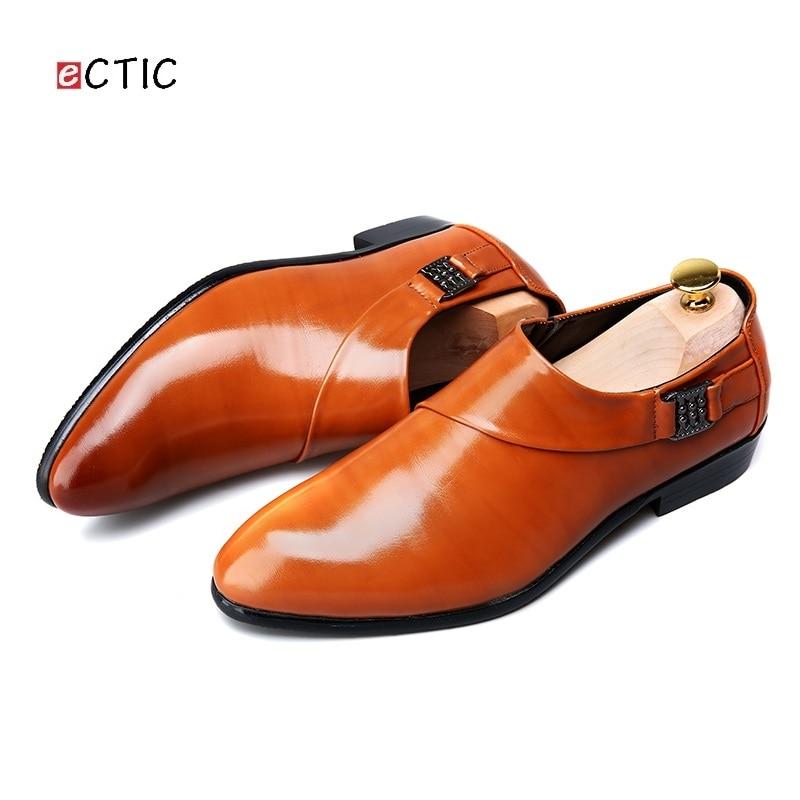 Zapatos 2018 Plat Sangle Robe Cuir Chaussures D'affaires Nouvelle En Hommes Noir Formelle rouge Moine jaune Ectic Hombre Richelieus Conception Derbies ZqwdZ0