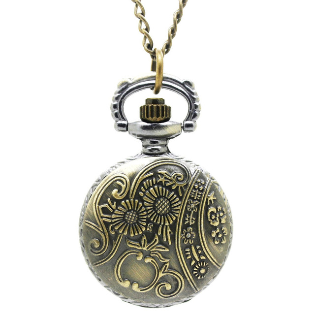 (3009) 12pcs/lot vintage Flower Hollow see Through steampunk Women Necklace Pocket Watch pendant, Free Shipping party free gift