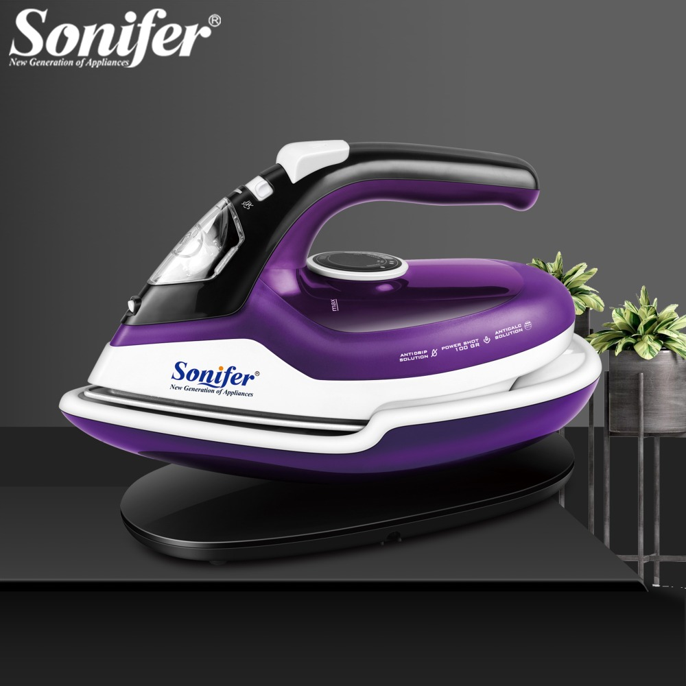 Cordless Steam IronS For Clothes Steam Generator Travel Wireless Iron Ironing Ceramic Soleplate Multifunction Adjustable Sonifer