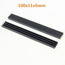50 Pieces/lot Aluminum Radiator For LED Heatsink 100x11x5mm With Self Adhensive Tape