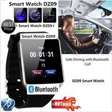 2017 smart watch dz09 con cámara bluetooth reloj smartwatch para android y ios sim y ranura para tarjeta tf teléfono soporte multi idiomas