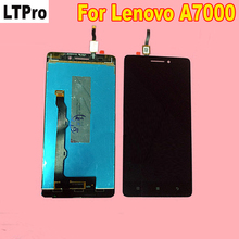 ФОТО black white for lenovo a7000 lcd display +touch screen digitizer assembly phone parts replacement free shipping