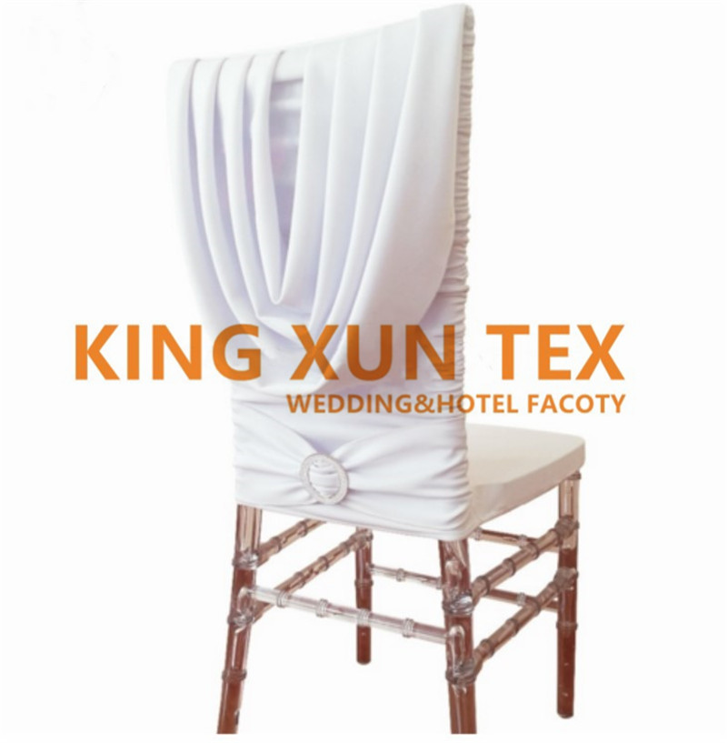 Half Bamboo Chiavari Spandex Chair Cover White Stretch Lycra Chair Cover Wedding Hotel Event Decoration