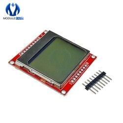 وحدة LCD شاشة عرض الأبيض خلفي محول PCB 84*48 84x48 5110 شاشة لاردوينو تحكم 3.3V نقطة مصفوفة الرقمية
