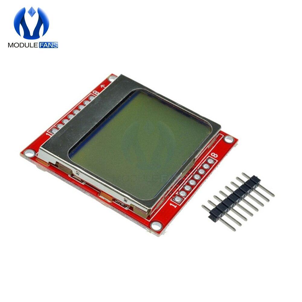 Module d'affichage LCD moniteur blanc rétro éclairage adaptateur PCB 84*48 84x48 5110 écran pour Arduino contrôleur 3.3V matrice de points numérique  