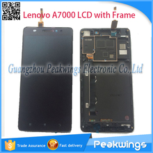 LCD Display For Lenovo A7000 LCD Display Digitizer Panel Screen Assembly with frame