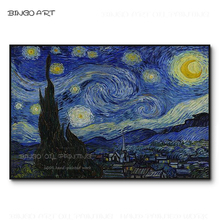 Excellent Artist Hand-painted High Quality Starry Sky Oil Painting on Canvas Reproduction Van Gogh Night