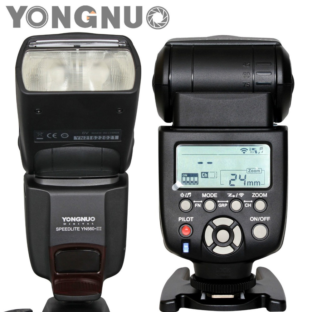 YONGNUO YN-560 YN560 III Flash Hot Shoe Speedlite for Canon 5D Mark III 5DII 7D 5D 50D 500D 550D 600D 650D 700D 1000D 1100D yongnuo yn 568ex ii for canon master hss ettl flash speedlite for 5diii 5dii 5d 7d 60d 50d 650d 600d 550d 12 pcs color cards