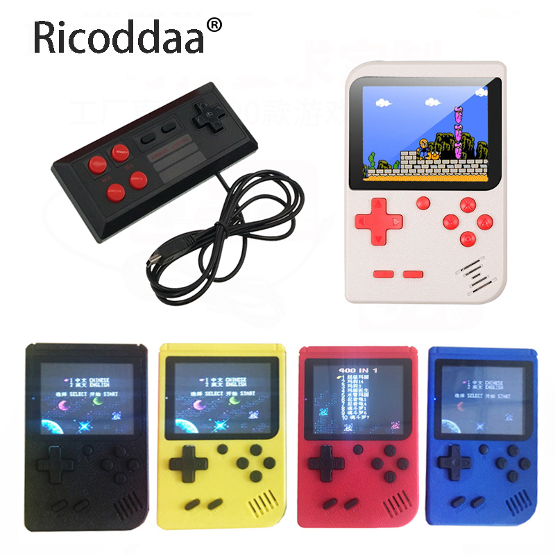 Video Game Console Retro Min Portable Handheld Game Console 8-Bit 3.0 Inch Color LCD Kids Game Player Built-in 400 Games