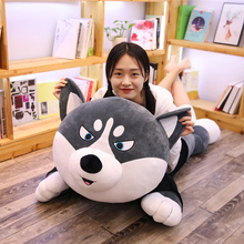 1PC 100cm Cute Husky Dog Plush Toy Stuffed Soft Animal Cartoon Pillow Lovely Christmas Gift for Kids Kawaii Valentine Present fancytrader 39 100cm soft giant plush stuffed jumbo dog toy 3 colors available nice gift for babies free shipping ft50236
