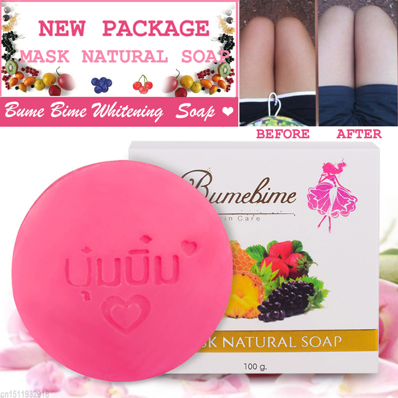 Cleansers Mask Natural Handmade Whitening Soap Fruits Extract Whitening Reduce Dark Spot White Skin Fast Bright Soap