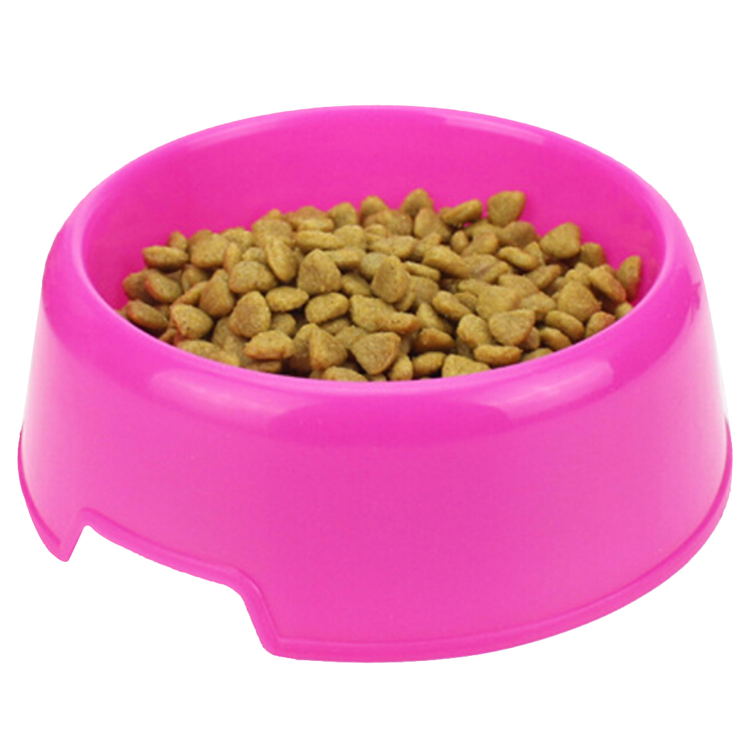 1Pc Safety Solid color Multi Purpose Plastic Cat Dog Bowls Feeding Water Food Puppy Feeder Cat