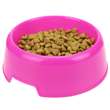 1Pc Safety Solid color Multi-Purpose Plastic Cat Dog Bowls Feeding Water Food Puppy Feeder Cat Dog Bowls Pet Feeding Supplies