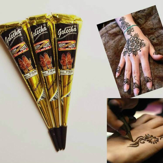 1pcs Black Indian Henna Tattoo Paste Tube Cone Body Art Temporary 29g Draw On Body By Yourself 25gram TA101