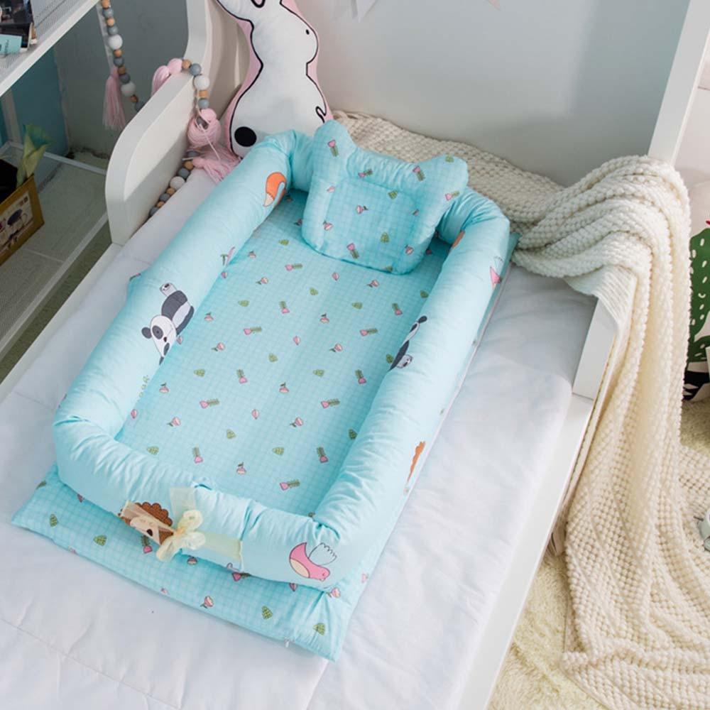 Foldable Sleeping Crib Bed Portable Crib Bassinet Basket Baby Travel Bed Baby Bumper Baby Crib Bedding Sets 90*50*15cm