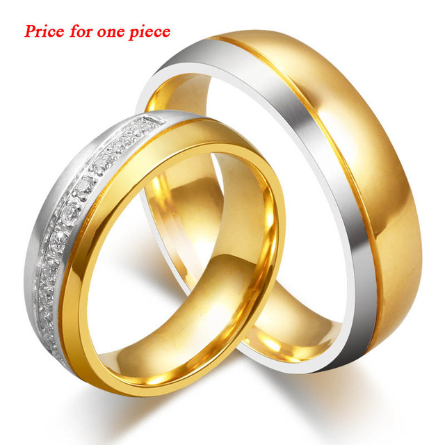 High quality vintage couple ring AAA+ CZ stone engagement wedding rings for women and men ring stainless steel fine jewelry LR30