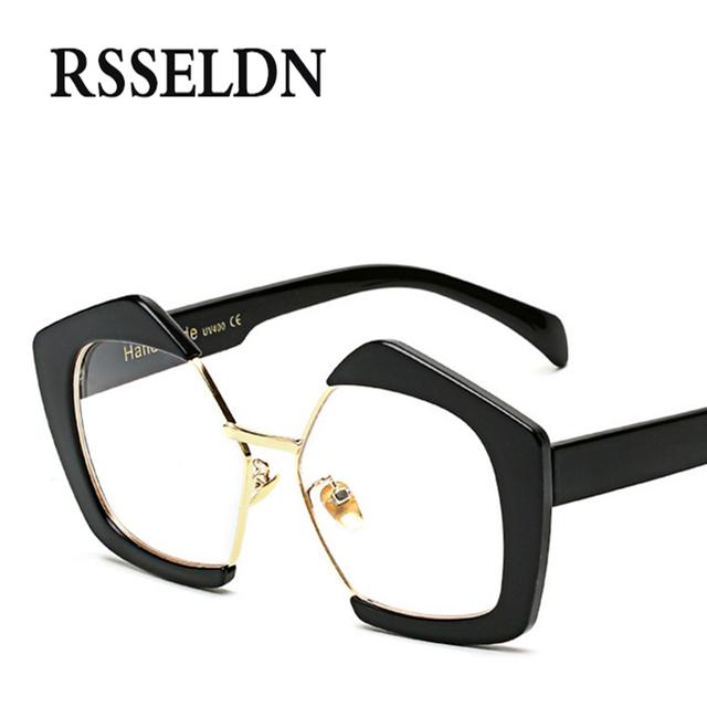 RSSELDN 2017 New Fashion Vintage Eyeglasses Frames Women Brand Designer Optical Eyeglasses Frame Glasses Men UV400