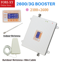 3G WCDMA 2100 4G LTE 2600 Cellular Signal Booster Amplifier Outdoor Antenna Dual Band Repeater Set for cell phone all carriers