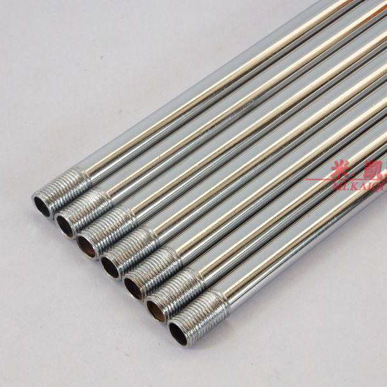 4PCS Lamp Floor Lamp Chrome Straight Tubes Connecting Tube Hollow Teeth Of Two M10 Outer Tooth Lighting Accessories