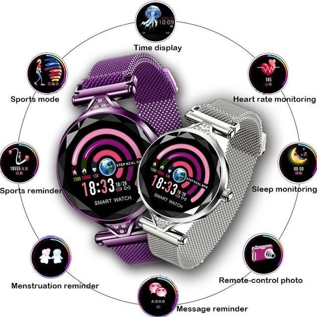 823cc234727c Nueva pulsera de ejercicio inteligente 2019 para mujer, monitorización  ritmo cardíaco y presión arterial, reloj regalo amigos lujo
