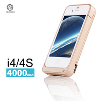 NEWDERY 4000mAh External Power Bank Charger Pack Backup Battery Case For Iphone 4 4s With USB