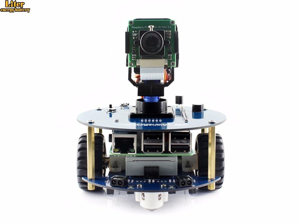 Kit robot AlphaBot2 avec caméra d'origine Raspberry Pi 3 modèle B/RPi (B)/télécommande IR, obstacle automatique évitant