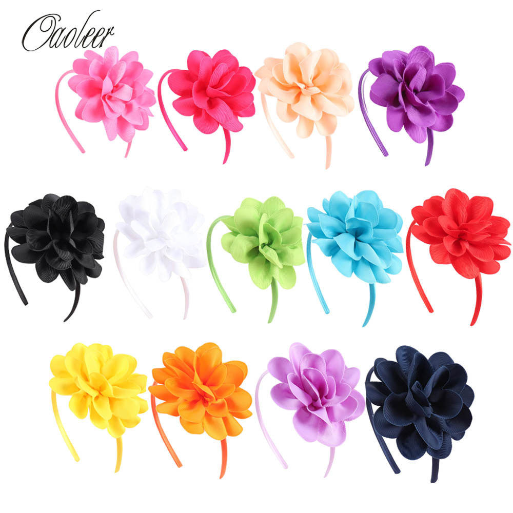 Hot Sales 10 pieces/lot High Quality Hair Band With Grosgrain Ribbon  Hair Band For girls Children Accessories 10pcs lot high quality hair band with grosgrain ribbon flower for girls handmade flower hairbow hairband kids hair accessories