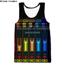 PLstar Cosmos 2018 Summer Mens Hip Hop Tank Tops DJ Keyboard 3d Printed Men Casual Vest Dropshipping