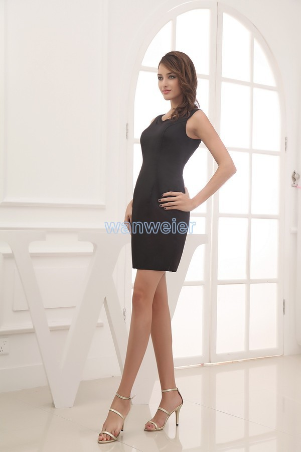 free shipping 2018 formal plus size new design robe de mariee custom color sexy chiffon short black bridesmaid Dresses in Bridesmaid Dresses from Weddings Events