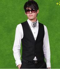 Mens traje de chaleco Slim fit chaleco negro azul marino gris chaleco chalecos chaleco hombre traje para hombre vestido chalecos chaleco botón formal
