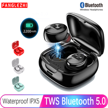 XG12 Wireless Earphone TWS Bluetooth 5.0 True Stereo Handsfree with Mic HIFI Sport Earphones noise cancelling for iPhone Samsung