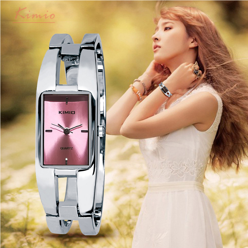 Kimio Brand Women's Bracelet Watches Diamond Stainless Steel Dress Ladies Quartz Watch Femme Relogio Feminino Horloges Vrouwen julius quartz watch ladies bracelet watches relogio feminino erkek kol saati dress stainless steel alloy silver black blue pink