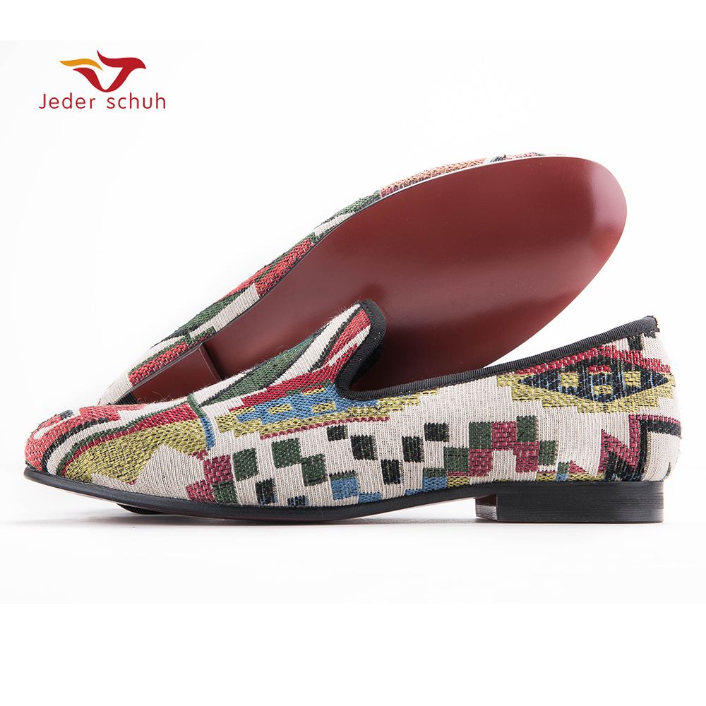 New Low poly pattern men loafers Handmade mixed colors men knitting shoes red bottom and Comfortable cotton insole men's flat letters and union jack pattern comfortable elastic waist men s boxer brief