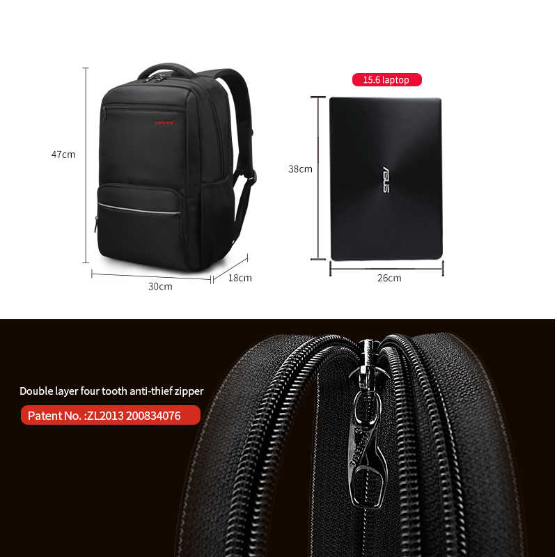 91ec0d13b9 ... Tigernu Men Backpack Nylon Waterproof Anti Theft Male Mochila Travel Laptop  Backpack 15.6 inch 25L Large ...
