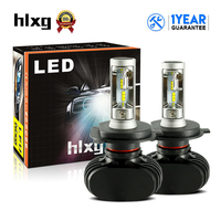 HLXG 1 Set S1 N1 H4 LED Car Front Headlight Bulbs CSP 6000K 8000LM Hi Lo