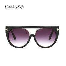 Coodaysuft Transparent Sunglasses 2017 Hot Sale Women Brand Designer Clear Cat Eyes Mirror Men Sun Glasses Female Luxury Ladies