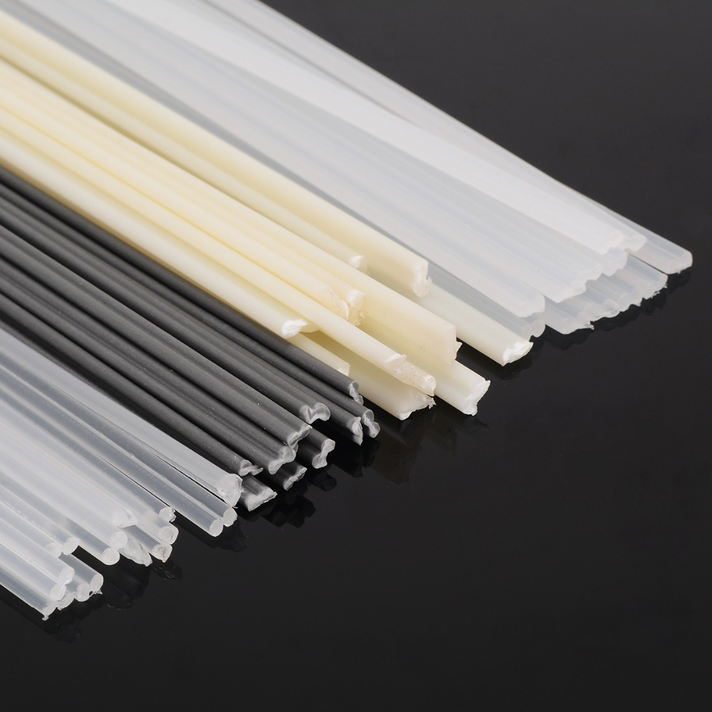 50pcs Non-toxic Plastic Welding Rods  200mm Length ABS/PP/PVC/PE Welding Sticks 5x2mm For Plastic Welder