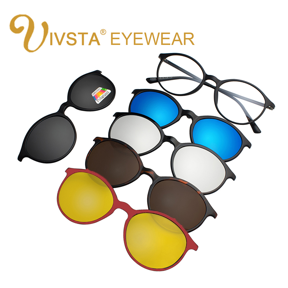 IVSTA <font><b>5</b></font> <font><b>in</b></font> <font><b>1</b></font> bag <font><b>Clip</b></font> <font><b>On</b></font> <font><b>Sunglasses</b></font> Women Frames <font><b>Men</b></font> Glasses <font><b>Clips</b></font> <font><b>Magnetic</b></font> <font><b>Sunglasses</b></font> with Magnet <font><b>Sunglasses</b></font> Optical Myopia image