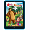 3D Learning Computer Tablet Pad Toy Masha And Bear Kids Record Study Pad Children'S Electronic Music Toys Learning Machine 002